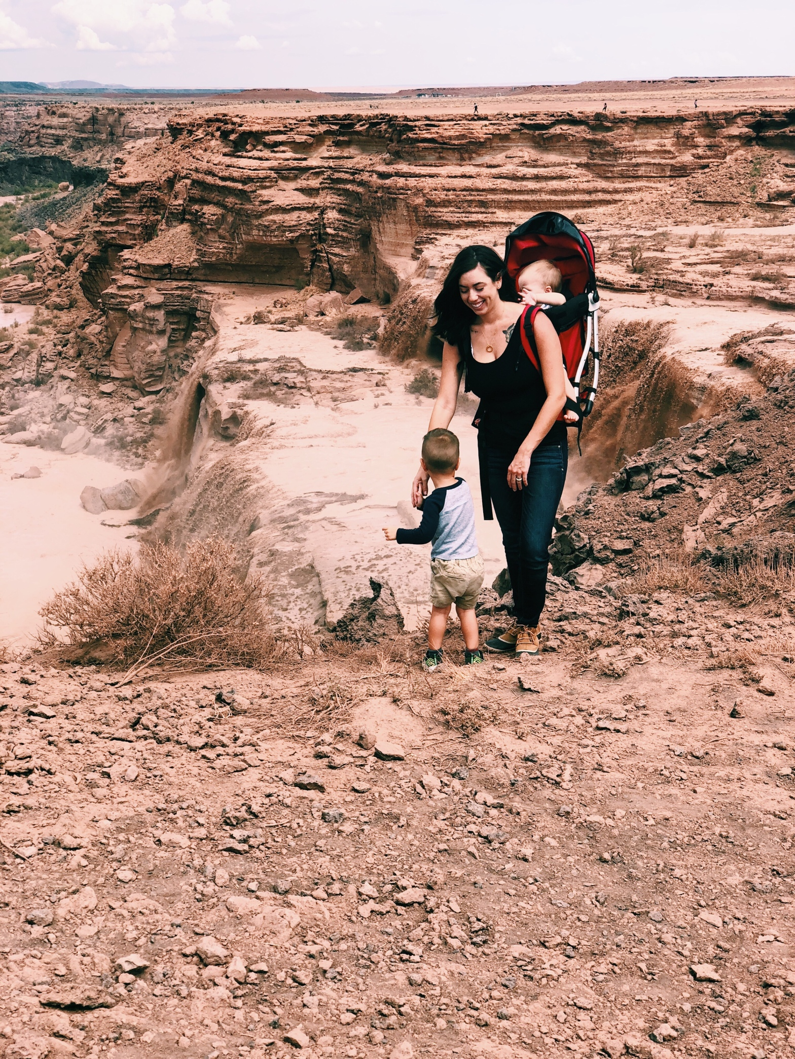 The Grand Falls with Mom and Kids
